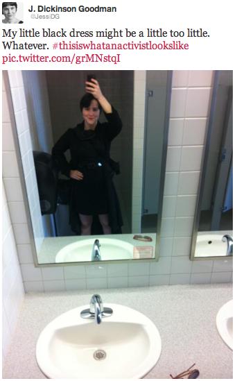 Jessica Dickinson Goodman, Activist Outfit